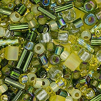 Japanese Seed Beads Mix - 15 Yellow Green