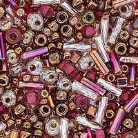 Japanese Seed Beads Mix - 16 Vintage Rose