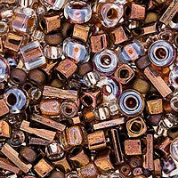 Japanese Seed Beads Mix - 20 Copper