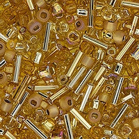 Japanese Seed Beads Mix - 23 Gold Mix