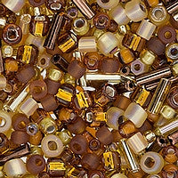 Japanese Seed Beads Mix - 24 Caramel/Cream