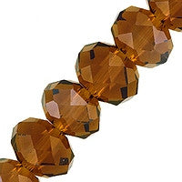 Chinesse Crystal - 6mm Rondels - Smoky Topaz 35pcs