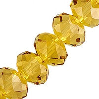 Chinesse Crystal - 6mm Rondels - Topaz 35pcs