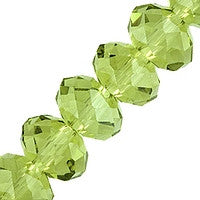 Chinesse Crystal - 6mm Rondels - Olivine 35pcs