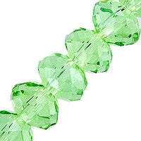 Chinesse Crystal - 6mm Rondels - Peridot 35pcs