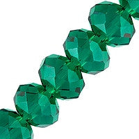 Chinesse Crystal - 6mm Rondels - Emerald 35pcc
