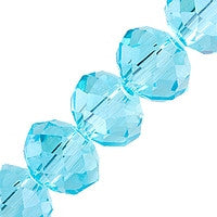 Chinesse Crystal - 6mm Rondels - Aquamarine 35pcs