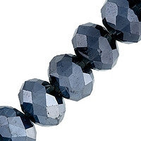 Chinesse Crystal - 6mm Rondels - Montana 35pcs