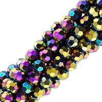 Chinesse Crystal - 4mm Round - Purple Iris 100pcs