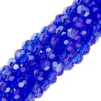 Chinesse Crystal - 4mm Round - Sapphire Luster 100pcs