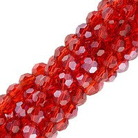 Chinesse Crystal - 4mm Round - Light Siam Luster 100pcs