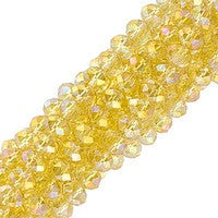 Chinesse Crystal - 3x4mm CHA Rondels - Jonquil AB Luster 100pcs