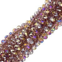 Chinesse Crystal - 3x4mm CHA Rondels - Medium Amethyst AB Luster 100pcs