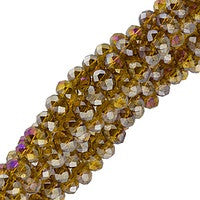 Chinesse Crystal - 3x4mm CHA Rondels - Smoky Topaz AB Luster 100pcs