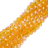 Chinesse Crystal - 3x4mm CHA Rondels - Sun AB Luster 100pcs