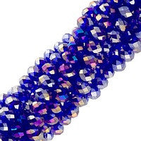 Chinesse Crystal - 3x4mm CHA Rondels - Cobalt AB Luster 100pcs