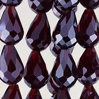 Chinesse Crystal - 12x8 Drop - C25 Ruby - 72pcs