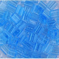 Japanese Tila Bead 2 Hole - 148 Blue Topaz Transparent