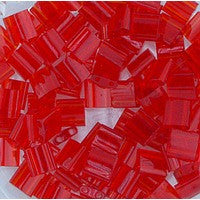 Japanese Tila Bead 2 Hole - 140 Red Transparent