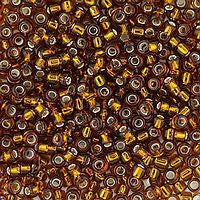 Japanese Seed Beads Size 11 103  Silverlined - Topaz