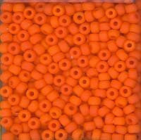 Japanese Seed Beads Size 11-7404 Opaque Matte - Medium Orange