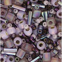Japanese Seed Beads Mix - 08 Lavendar