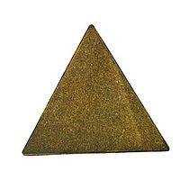 Antique Brass - Blank - 35m Triangle