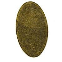 Antique Brass - Blank - 22x13 Oval