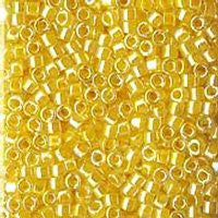 Delica 11/0 0053 Transparent Rainbow Soft Yellow - 5 Grams