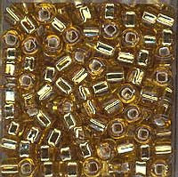 Japanese Seed Beads Size 8-004  Silverlined - Dark Gold