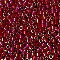 Delica 11/0 0162 Opaque Rainbow Dark Red