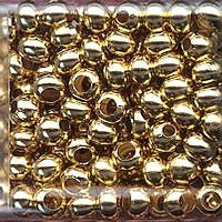Japanese Seed Beads Size 6 - Metal Beads - 24KT Gold Plate 30 gram tube