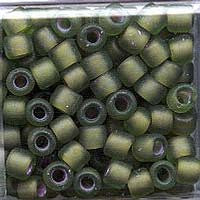 Japanese Seed Beads Size 6 - F399Z Transparent Matte - Olivine