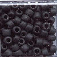 Japanese Seed Beads  Size 6 - F401 Opaque Matte- Black