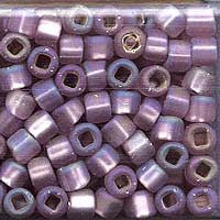 Japanese Seed Beads Size 6-F640 Silverlined Matte Rainbow - Light  Amethyst