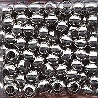 Japanese Seed Beads Size 6 - Metal Beads - Nickle 16 gram tube