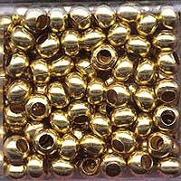 Japanese Seed Beads Size 6 - Metal Beads - Shiny Gold 16 gram tube