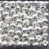 Japanese Seed Beads Size 6 - Metal Beads - Silver 16 gram tube