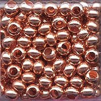 Japanese Seed Beads Size 6 - Metal Beads - Copper 16 gram tube