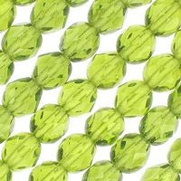 Czech Glass - 6mm Firepolish - Plain Colors - Olivine