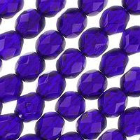 Czech Glass - 6mm Firepolish - Plain Colors - Cobalt