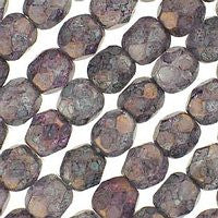Czech Glass - 6mm Firepolish - Special Colors - Luster Stone Amethyst