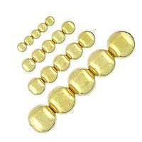 Plated - Gold Round - 100pcs