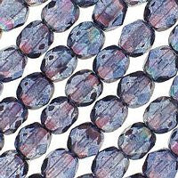 Czech Glass - 6mm Firepolish - Special Colors - Luster Transparent Amethyst