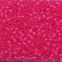 Delica 11/0 0780 Transparent Semi. Matte Raspberry Pink