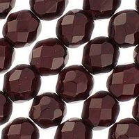 Czech Glass - 8mm Firepolish - Plain Colors - Garnet