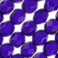 Czech Glass - 8mm Firepolish - Plain Colors - Cobalt