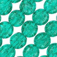 Czech Glass 6m Crackle - Emerald