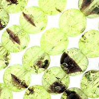 Czech Glass 6m Crackle - Olivine/Amethyst