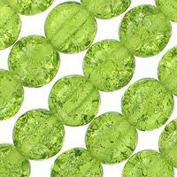 Czech Glass 6m Crackle - Olivine